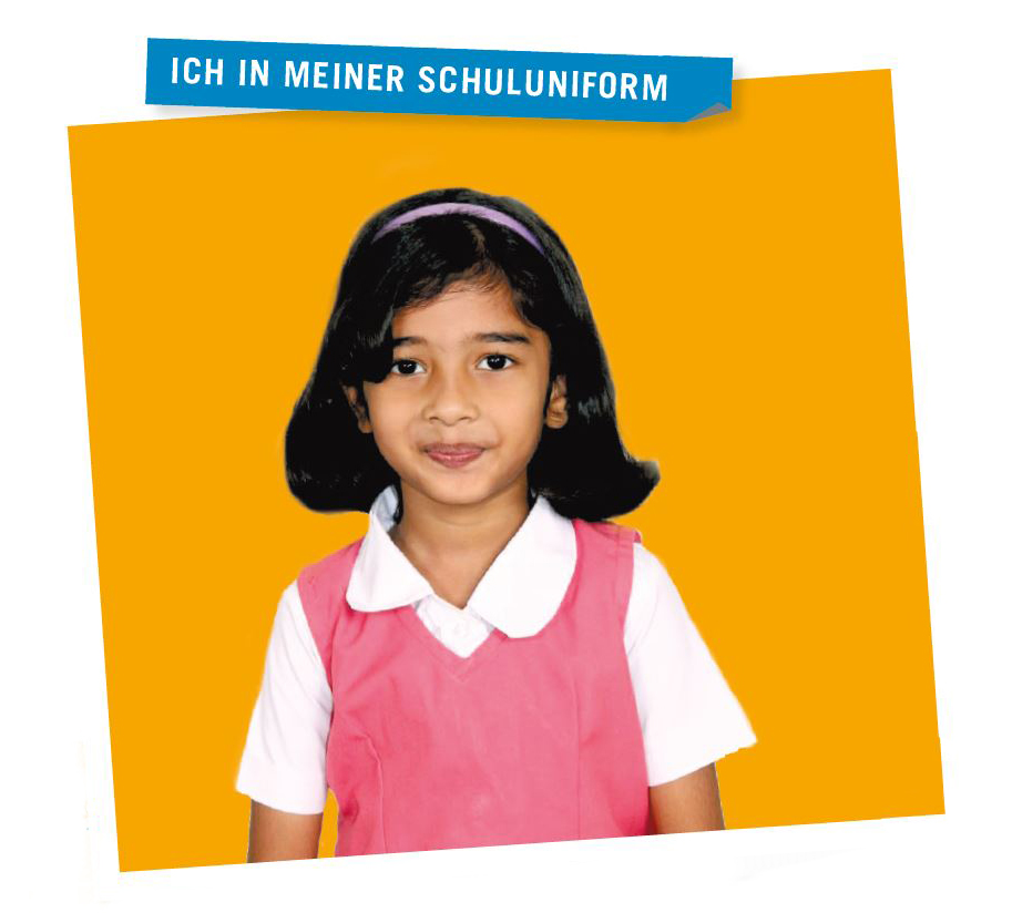 Evelyn in ihrer Schuluniform/Evelyn in her School Uniform (Photo: EMS/K.James Cecil Victor/Monika Richter)