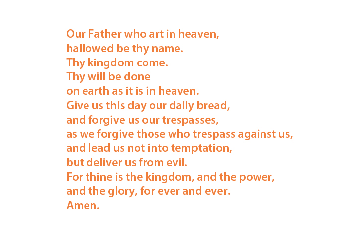Vaterunser auf Englisch/Lord's Prayer in English (Photo: EMS)