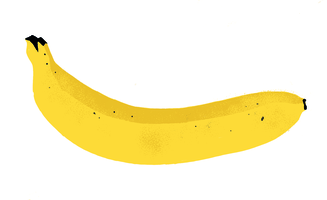Emso liebt Bananen aus fairem Handel. / Emso loves fair trade bananas. (Illustration: EMS / Gert Albrecht)